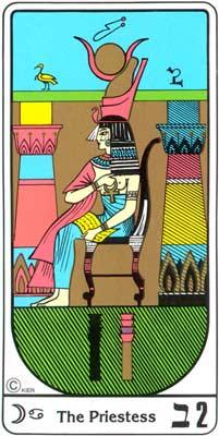 La Sacerdotisa (A Papisa) no Tarot Egipcio da Kier