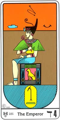 El Imperador (O Imperador) no Tarot Egipcio da Kier