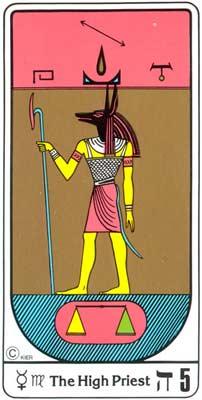 5. El Jerarca (O Papa) no Tarot Egipcio da Kier