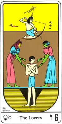 6. La Indecisión (Os Namorados) no Tarot Egipcio da Kier