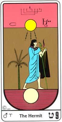 9. El Eremita (O eremita) no Tarot Egipcio da Kier