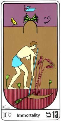 13. La Immoralidad (A Morte) no Tarot Egipcio da Kier