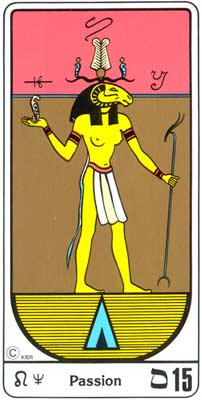 15. La Pasión (O Diabo) no Tarot Egipcio da Kier