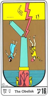 16. La Fragilidad (A Torre) no Tarot Egipcio da Kier