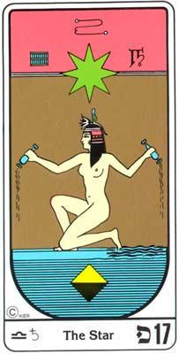 17.La Esperanza (A Esperança) no Tarot Egipcio da Kier
