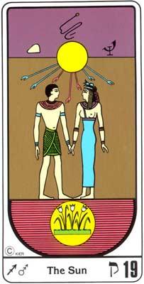 19. La Inspiración (O Sol) no Tarot Egipcio da Kier