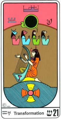21. La Transmutación (O Mundo) no Tarot Egipcio da Kier