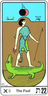 22. El Regresso (O Louco) no Tarot Egipcio da Kier