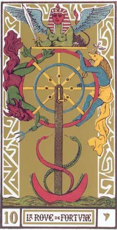 10. A Roda da Fortuna - Roue de Fortune no Tarot de Oswald Wirth