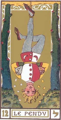 12. O Pendurado - Le Pendu no Tarot de Oswald Wirth