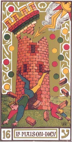 16. A Torre - La Maison Dieu no Tarot de Oswald Wirth