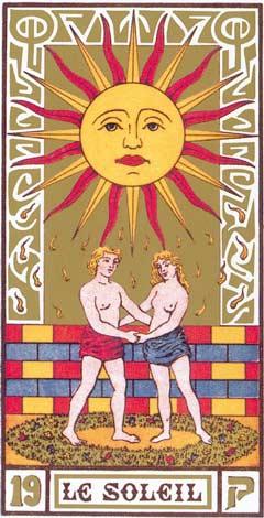19. O Sol - Le Soleil no Tarot de Oswald Wirth