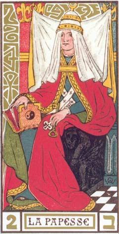 2. A Papisa - La Papesse no Tarot de Oswald Wirth