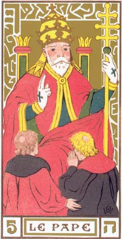 5. O Papa - Le Pape no Tarot de Oswald Wirth