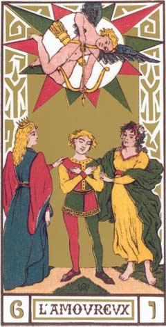 6. O Namorado - L'Amoureux no Tarot de Oswald Wirth