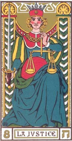 8. A Justiça - La Justice no Tarot de Oswald Wirth