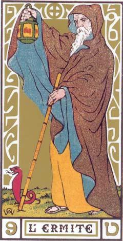9. O Eremita - L'Ermite no Tarot de Oswald Wirth