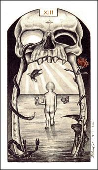 A Morte no Tarô Carbônico de Adriano Camargo Monteiro