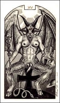 O Diabo no Tarô Carbônico de Adriano Camargo Monteiro