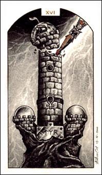 A Torre no Tarô Carbônico de Adriano Camargo Monteiro