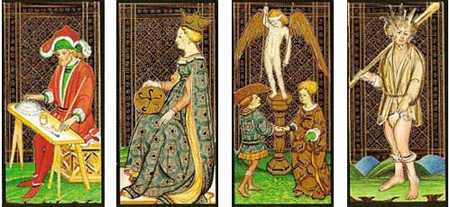 Cartas do Tarot Visconti Sforza