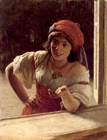 Mulher cigana, tela de Nikoli Yaroshenko, 1886.
