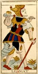 O Louco no Tarot de Nicolas Conver (1760)