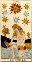 A Estrela no Tarot de Nicolas Conver (1760)