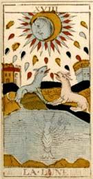A Lua no Tarot de Nicolas Conver (1760)