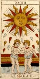 O Sol no Tarot de Nicolas Conver (1760)