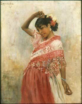 Jovem cigana dançando