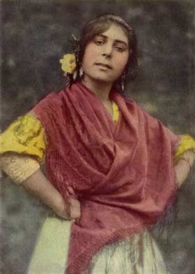 Cigana espanhola, foto do National Geographic Magazine, Março 1917