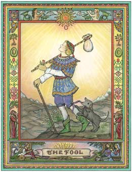 O Louco, The Fool no Kim Waters Tarot