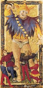 O Louco no Tarô Carlos VI (Gringonneur)