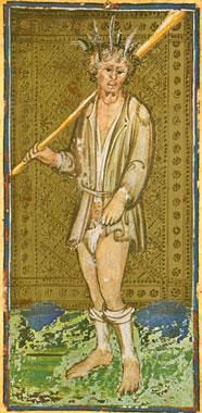 O Louco no Tarô Visconti Sforza