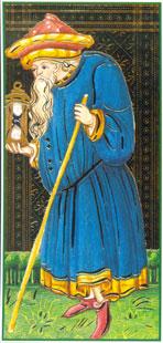 O Eremita no Tarô Visconti Sforza
