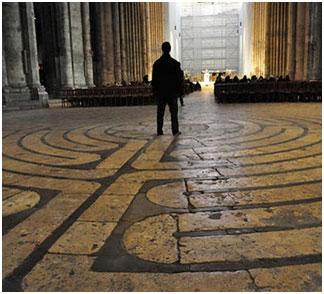 O Labirinto na catedral de Chartres