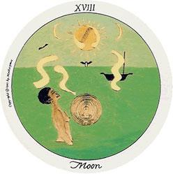 A Lua no Motherpeace tarot