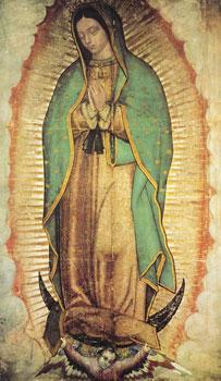 A Virgem de Guadalupe (México) - imagem do século 16.