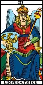 A Imperatriz no Tarot de Marselha-Camoin