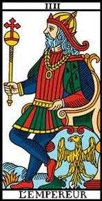 O Imperador no Tarot de Marselha-Camoin
