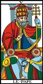 O Papa no Tarot de Marselha-Camoin