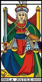 A Justiça no Tarot de Marselha-Camoin
