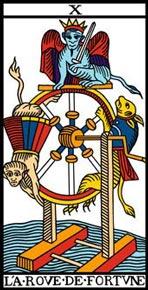 A Roda da Fortuna no Tarot de Marseille-Camoin