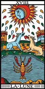 A Lua no Tarot de Marselha-Camoin