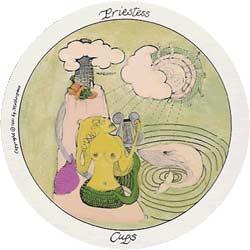A Sacerdotisa; (Rainha) de Copas no Motherpeace Tarot