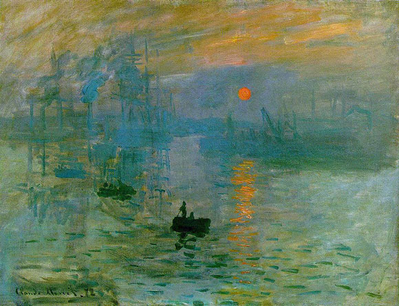 Impression, soleil levant - pintura de Claude Monet,1872