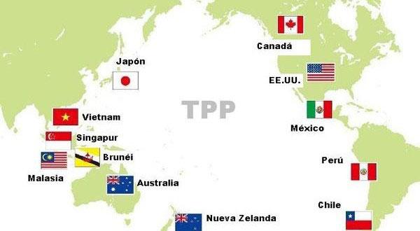 Países envolvidos no Tratado Transpacífico