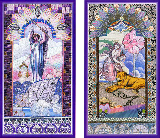 A Justi;a e a For;a nbo Enchanted Tarot