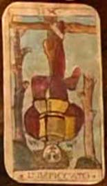 O Enforcado no tarocchi de Cesca